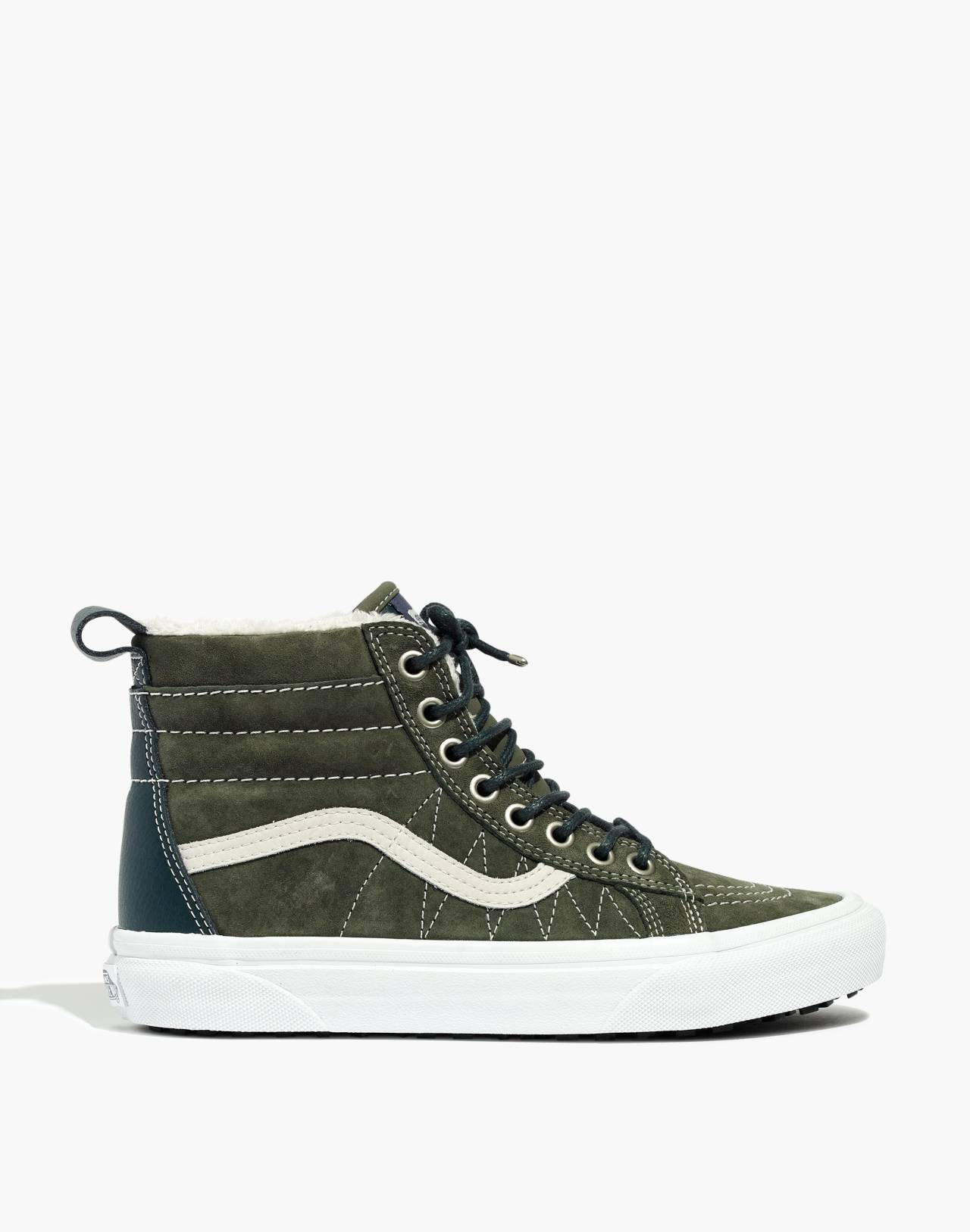 Vans® Unisex Sk8-Hi MTE High-Top Sneakers in Suede in dusty olive darkest spruce image 3