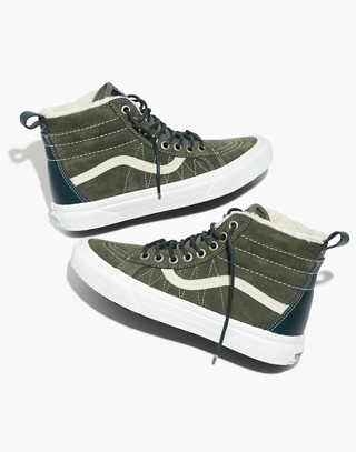 Vans® Unisex Sk8-Hi MTE High-Top Sneakers in Suede in dusty olive darkest spruce image 1