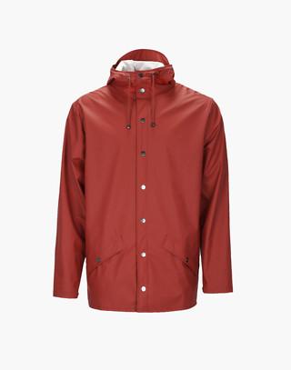 Unisex RAINS® Rain Jacket in red image 3