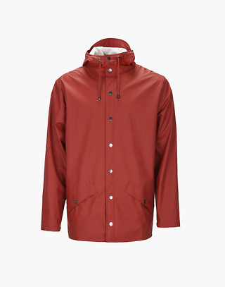 Unisex RAINS® Rain Jacket in red image 1