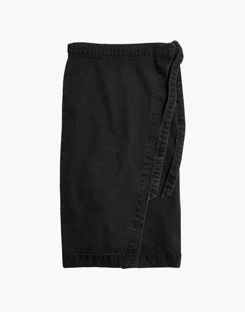 Denim Midi Wrap Skirt in Lunar Wash in lunar wash image 4
