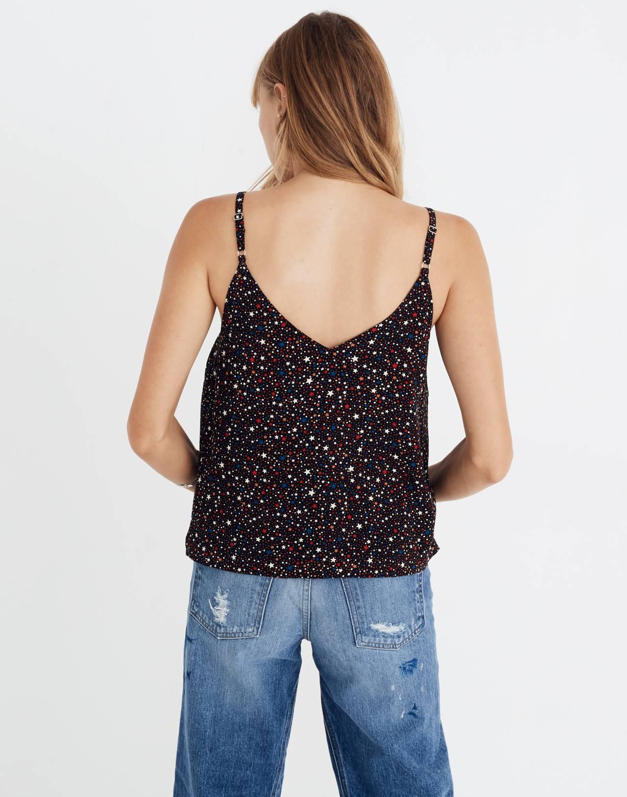 Button-Down Cami in Starry Night in starry dark mediterranean image 3