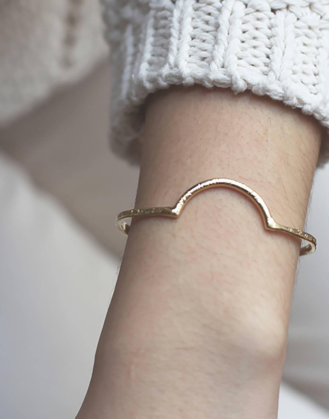 Odette New York® Arc Cuff Bracelet in gold image 2