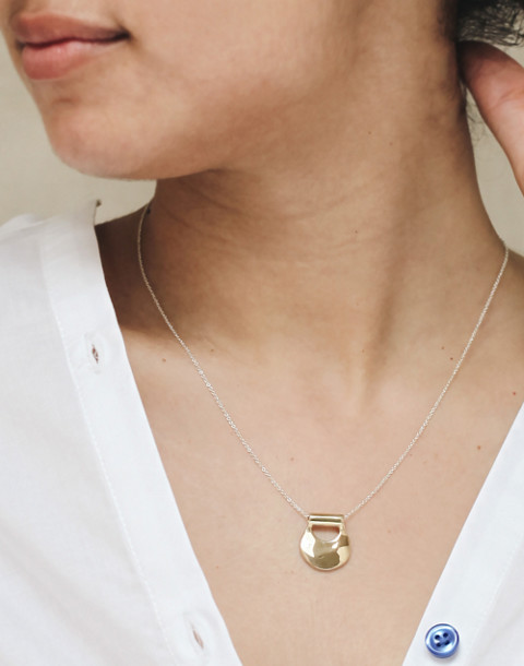 Odette New York® Mini Canyon Pendant Necklace in gold image 2