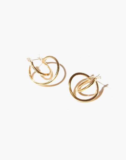 Odette New York® Mini Risom Hoop Earrings in gold image 1