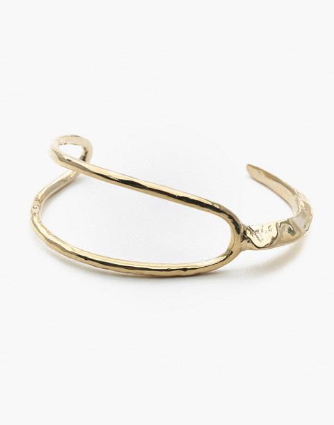 Odette New York® Split Ridge Cuff Bracelet in gold image 1