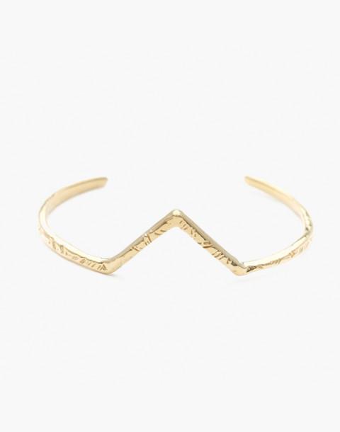 Odette New York® Summit Cuff Bracelet in gold image 1