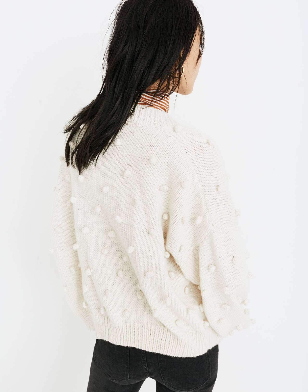 Madewell x Manos del Uruguay™ Bobble Cardigan Sweater in natural image 3
