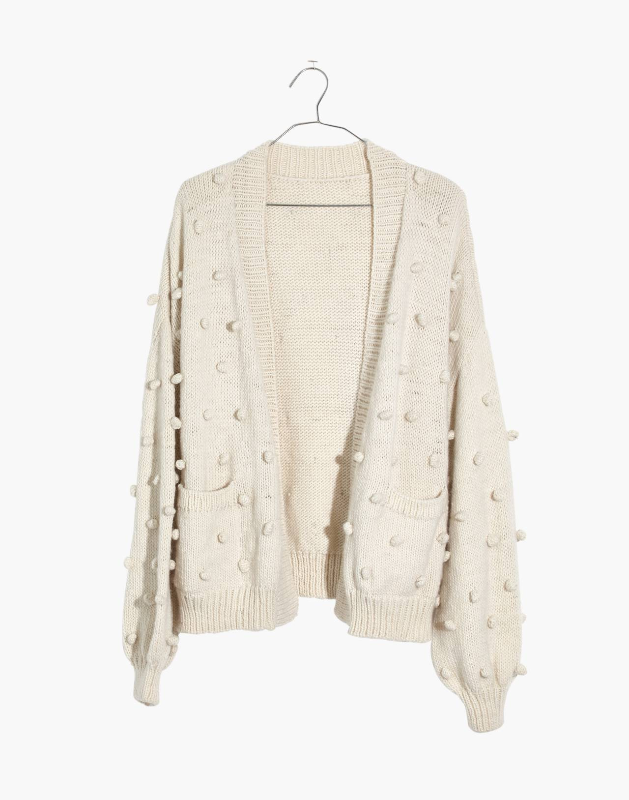 Madewell x Manos del Uruguay™ Bobble Cardigan Sweater in natural image 4
