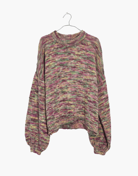 Madewell x Manos del Uruguay™ Space-Dyed Pullover Sweater in pink space image 4