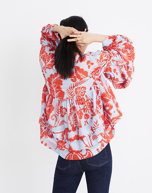 4f3c52227db Karen Walker® Sublime Shrine Print Top in red blue ...