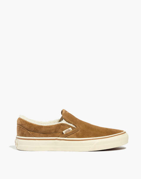 25a086d49beac7 Madewell x Vans reg  Unisex Slip-On Sneakers in Suede and Sherpa in  chipmunk angora