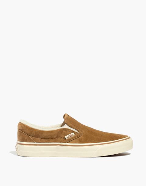 Madewell x Vans® Slip-On Sneakers in Suede and Sherpa in chipmunk angora image 3