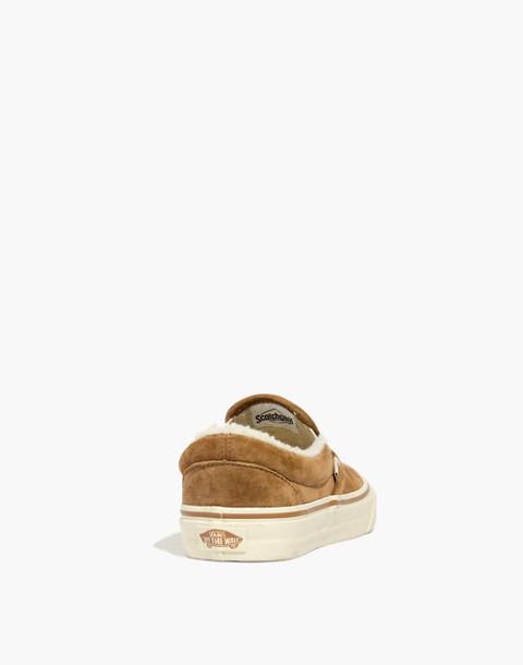 Madewell x Vans® Slip-On Sneakers in Suede and Sherpa in chipmunk angora image 4
