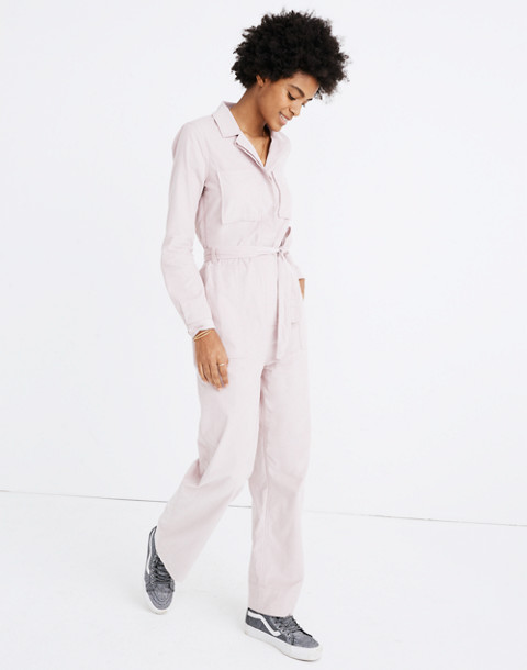 Corduroy Belted Jumpsuit in wisteria dove image 2