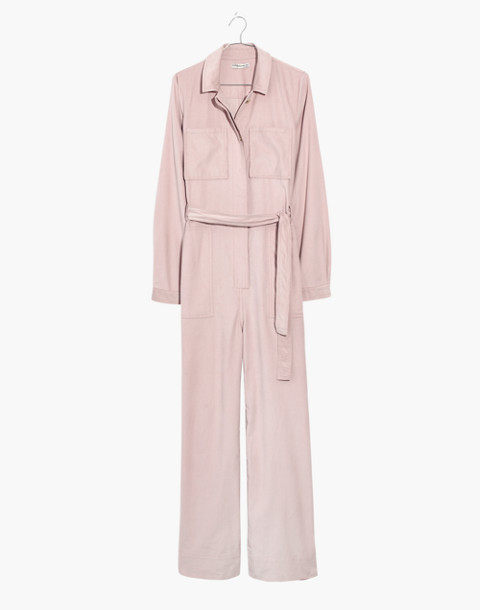 Corduroy Belted Jumpsuit in wisteria dove image 4