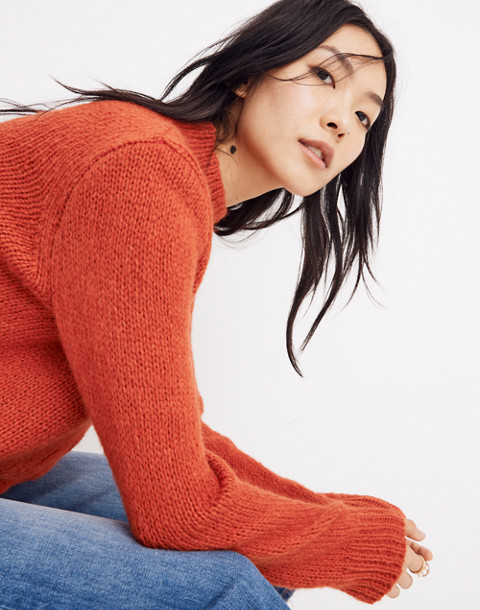 Bayfront Turtleneck Sweater in bright scarlett image 2