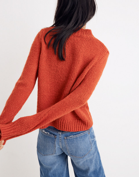 Bayfront Turtleneck Sweater in bright scarlett image 3