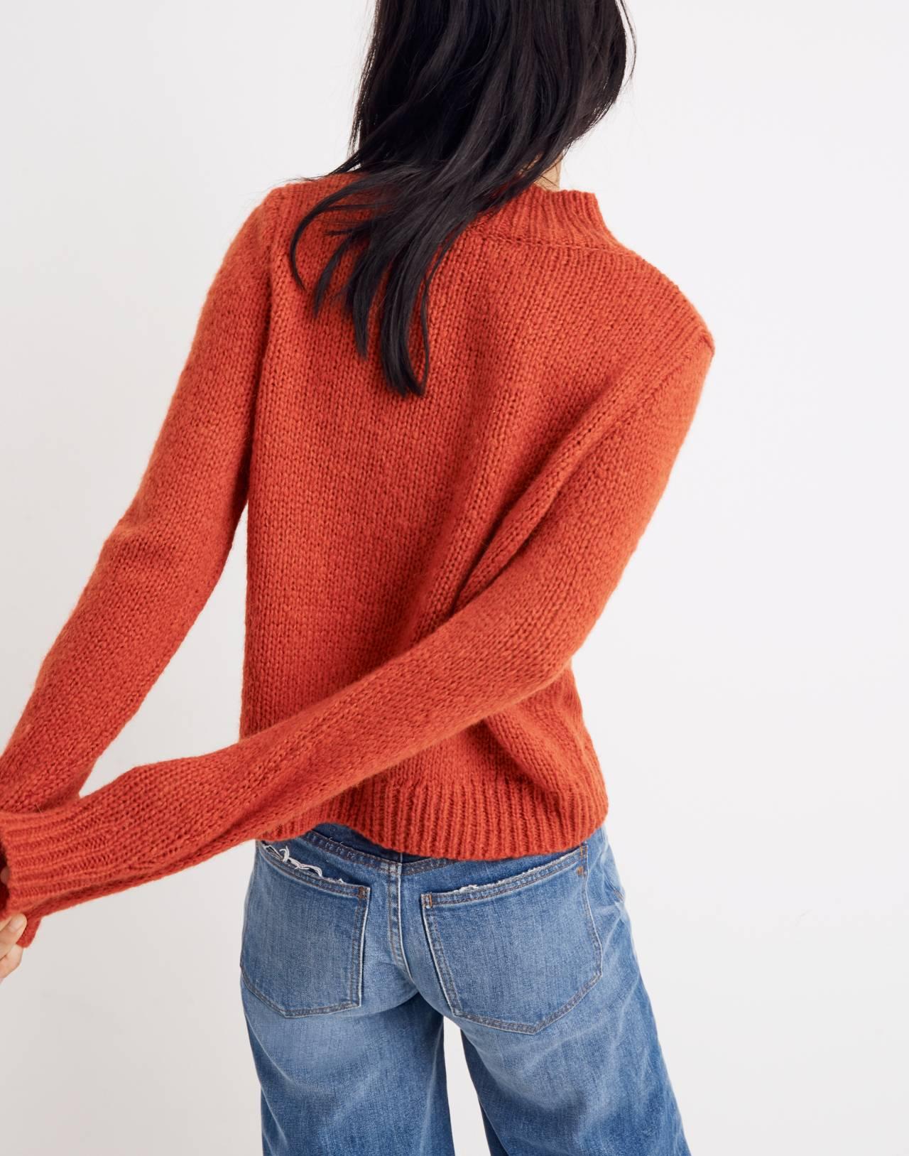 Bayfront Turtleneck Sweater in bright scarlett image 3