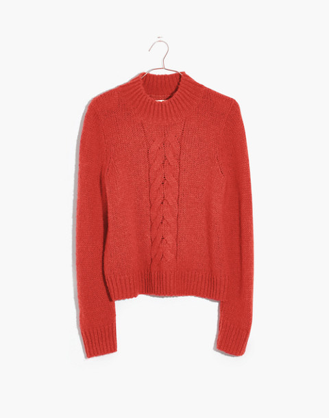 Bayfront Turtleneck Sweater in bright scarlett image 4