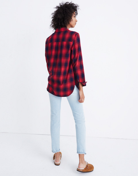 Flannel Ex-Boyfriend Shirt in Albion Plaid in red sangria image 3