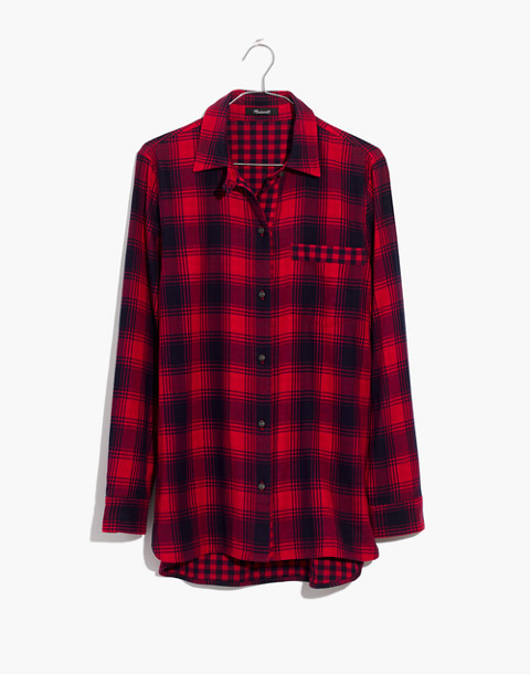 Flannel Ex-Boyfriend Shirt in Albion Plaid in red sangria image 4