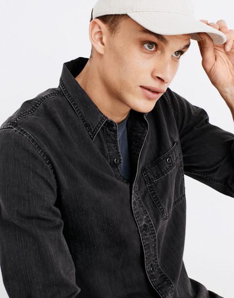 Denim Button-Down Shirt in Cutler Wash in cutler wash image 2