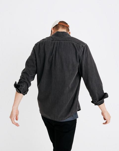 Denim Button-Down Shirt in Cutler Wash in cutler wash image 3