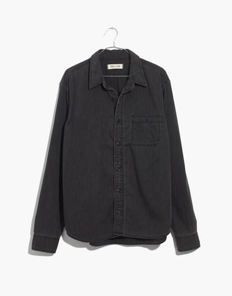 Denim Button-Down Shirt in Cutler Wash in cutler wash image 4