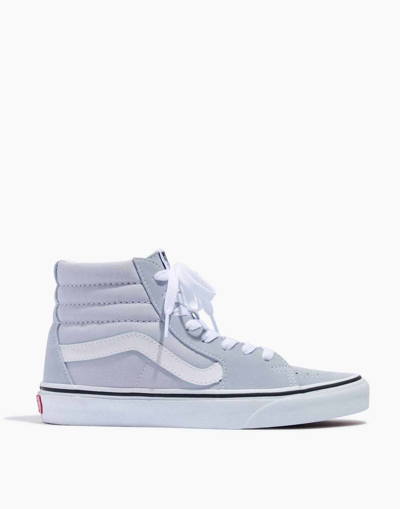 Vans® Sk8-Hi High-Top Sneakers in Canvas and Suede in gray dawn/true white image 3