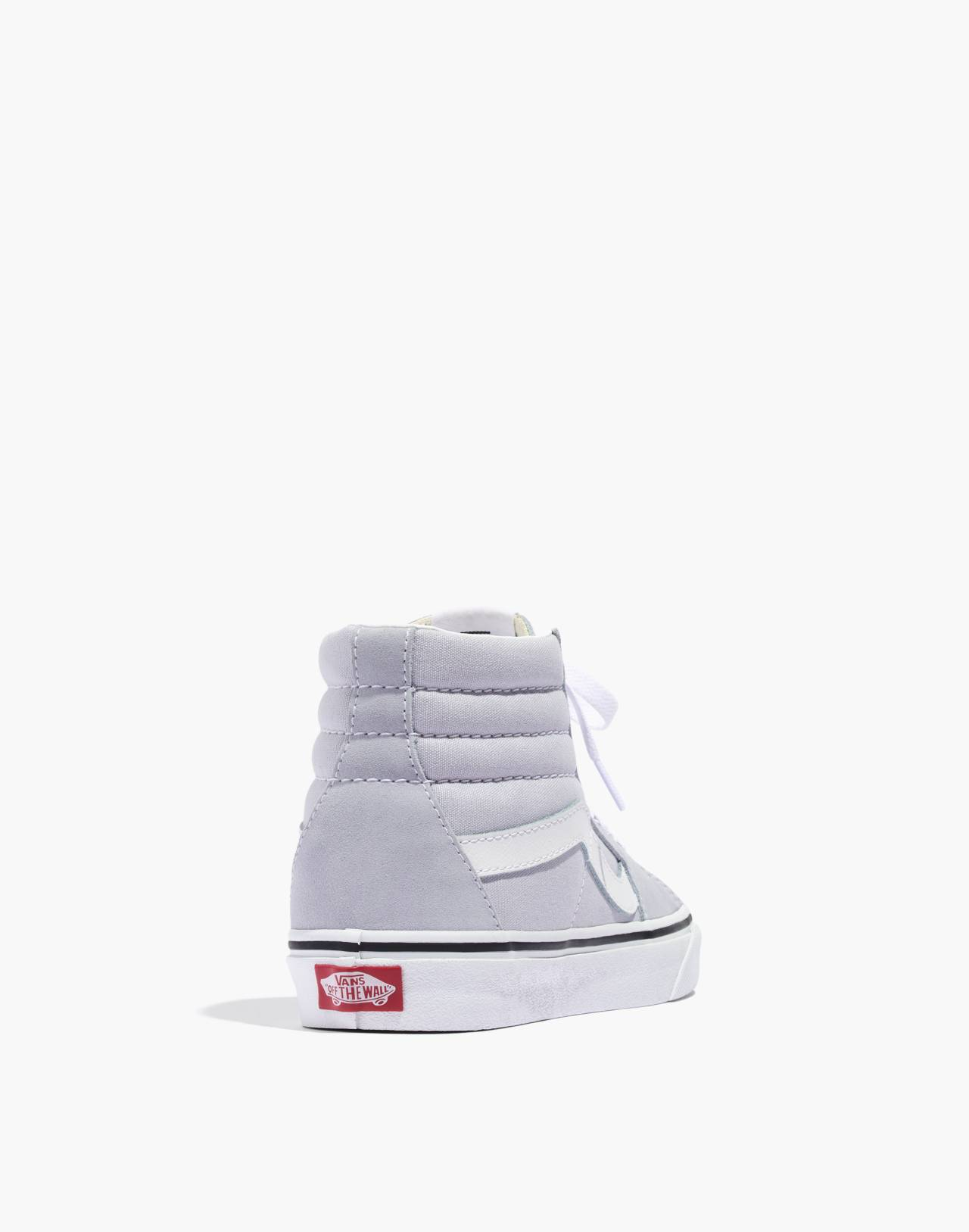 Vans® Sk8-Hi High-Top Sneakers in Canvas and Suede in gray dawn/true white image 4