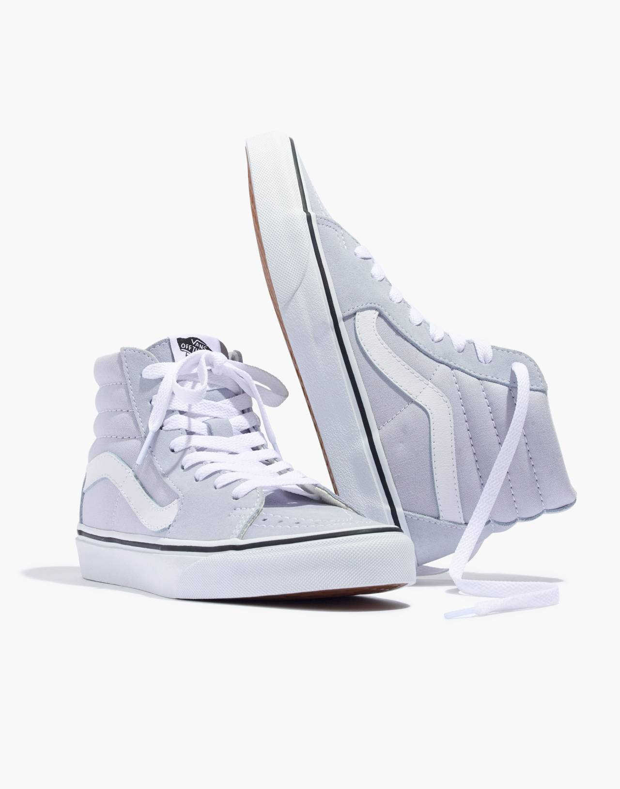 Vans® Sk8-Hi High-Top Sneakers in Canvas and Suede in gray dawn/true white image 1