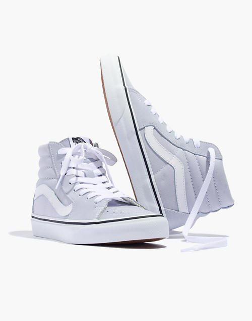 c8d8052e71 Vans reg  Sk8-Hi High-Top Sneakers in Canvas and Suede in gray dawn