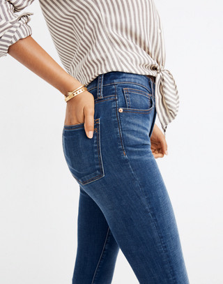 Curvy High-Rise Skinny Jeans in Hayes Wash in hayes wash image 2