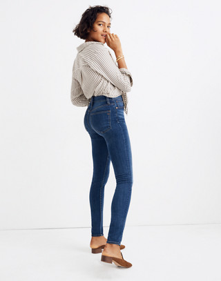 Petite Curvy High-Rise Skinny Jeans in Hayes Wash in hayes wash image 3