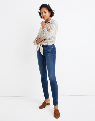Petite Curvy High-Rise Skinny Jeans in Hayes Wash in hayes wash image 1