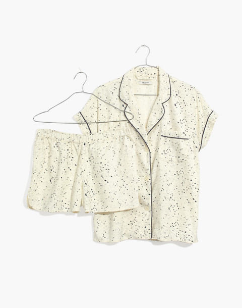Flannel Bedtime Pajama Set in Starscape in galaxy star pearl ivory image 4