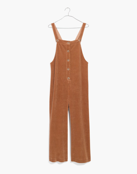Texture & Thread Velour Corduroy Overalls in warm sand image 1