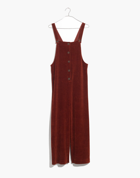 Texture & Thread Velour Corduroy Overalls in canterbury red image 1