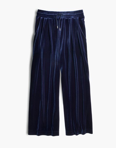 Stretch Velvet Huston Pull-On Crop Pants in deep navy image 4