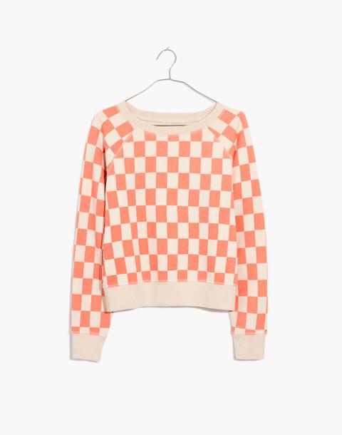 Checkerboard Shrunken Sweatshirt in light blossom checkerboard image 4