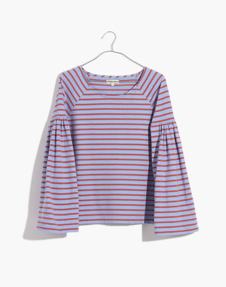 Shirred-Sleeve Sailor Top in fragile peri image 4