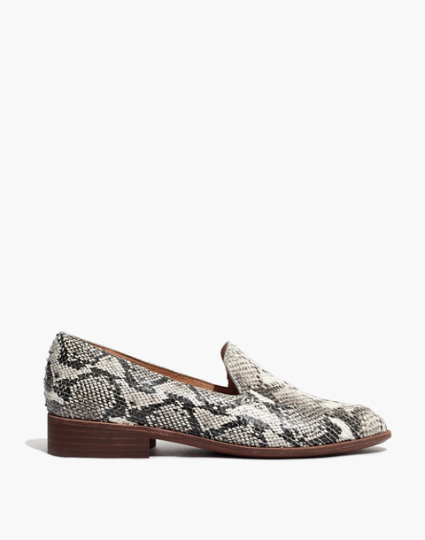 The Frances Loafer in Stamped Snake in pale muslin image 3