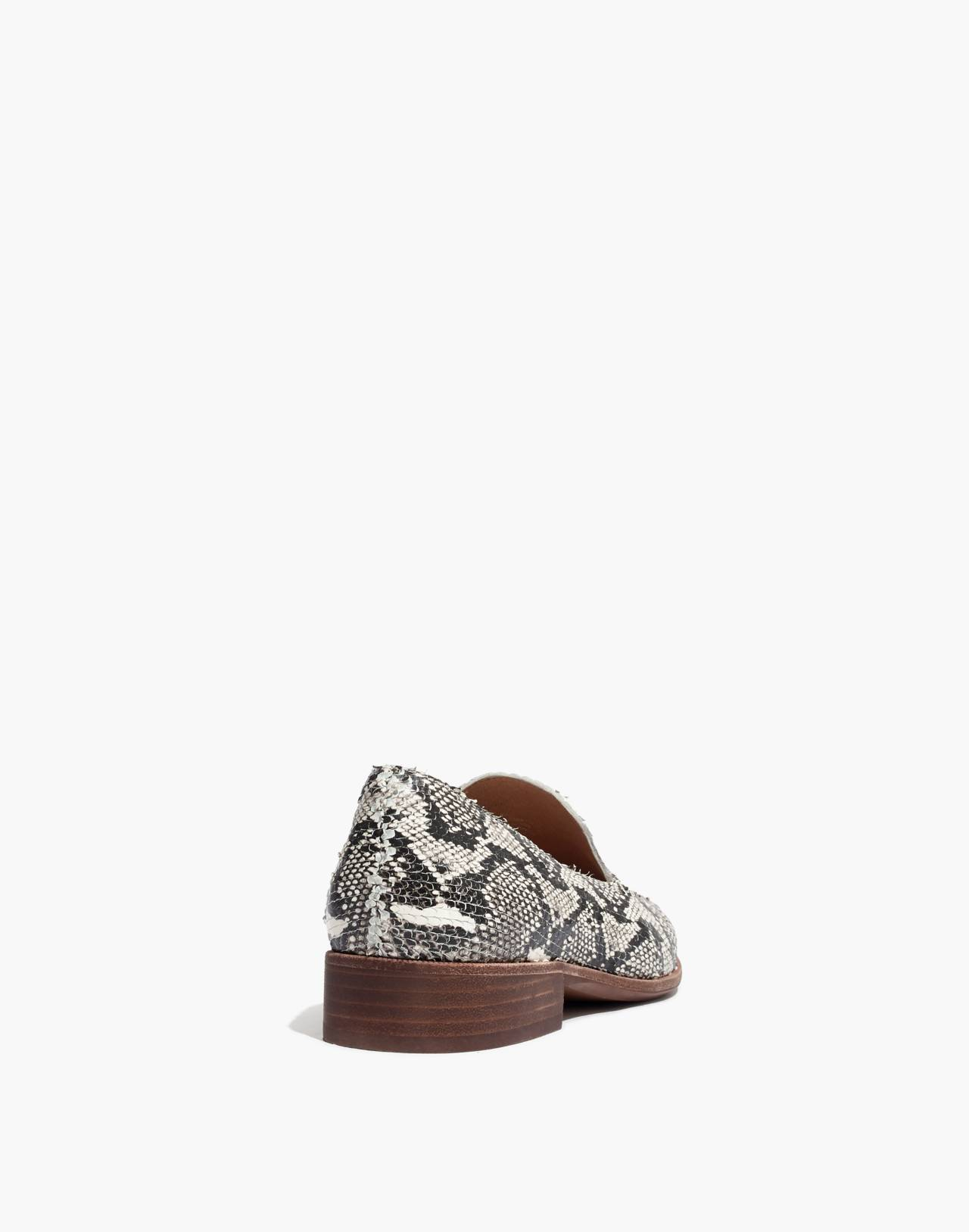 The Frances Loafer in Stamped Snake in pale muslin image 4
