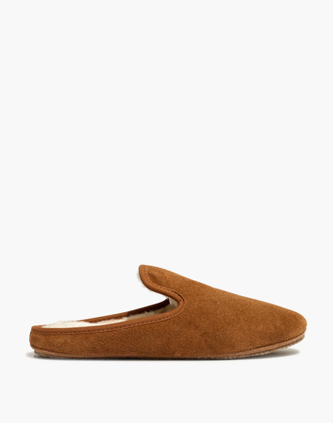 The Loafer Scuff Slipper in Suede in timber beam image 2