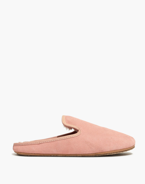 The Loafer Scuff Slipper in Suede in pink oyster image 2