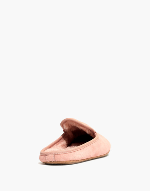 The Loafer Scuff Slipper in Suede in pink oyster image 3
