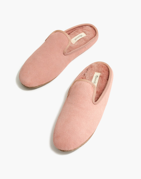 The Loafer Scuff Slipper in Suede in pink oyster image 1