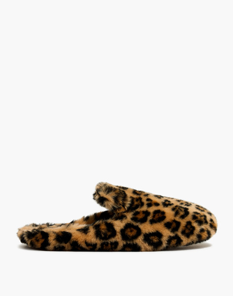 The Loafer Scuff Slipper in Leopard Faux-Fur in leopard faux fur image 2
