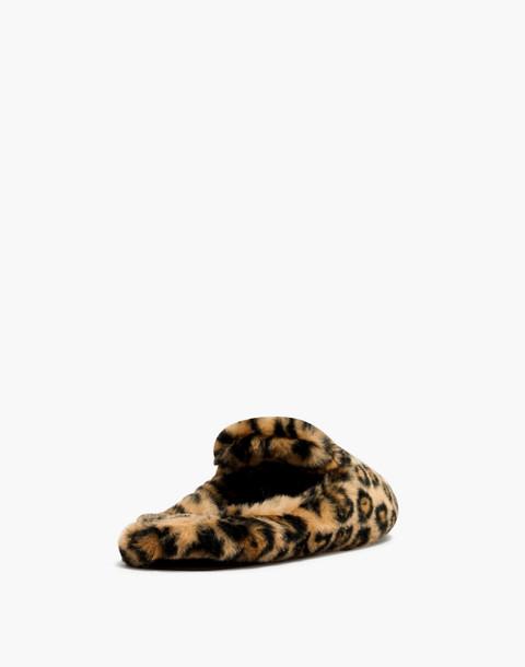 The Loafer Scuff Slipper in Leopard Faux-Fur in leopard faux fur image 3